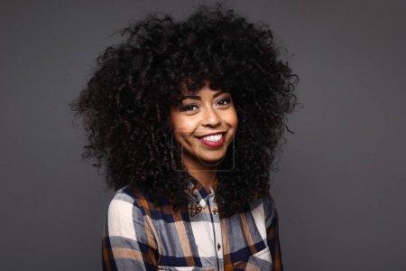 Portrait of a beautiful happy black woman