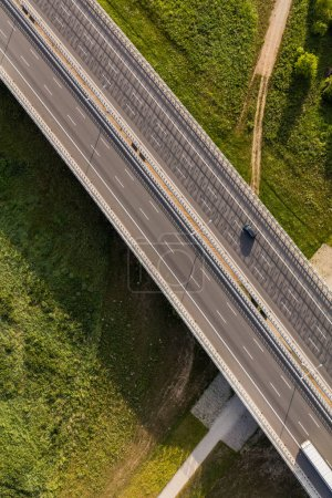 Photo for Aerial view of the highway and cars in Poland - Royalty Free Image