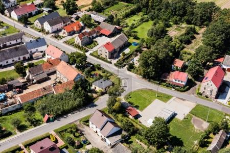 Photo for Aerial view of the  Piotrowice Nyskie village near Nysa city in Poland - Royalty Free Image