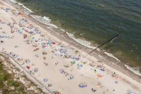 sandy beach on Baltic sea