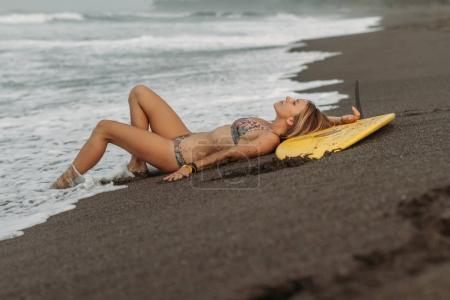 Woman on sea shore