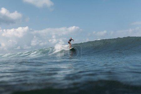 riding wave