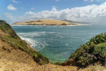 Photo pour View of from coast on island in ocean, Omapere, New Zealand - image libre de droit