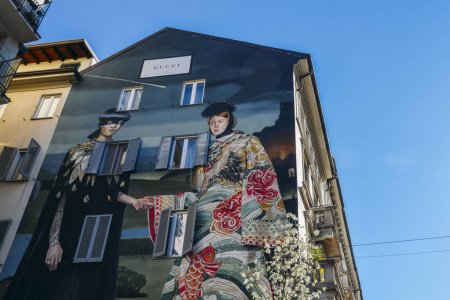Gucci has mounted a mural