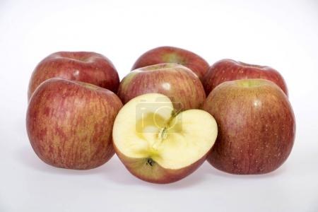 fresh and delicious apple isolated on white background