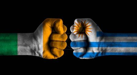Photo pour Cote divoire vs Uruguay - image libre de droit