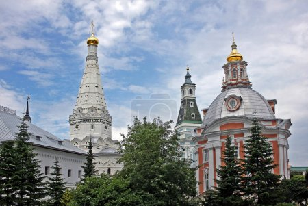 Churches of the Holy Trinity Lavra of St. Sergius. Russia