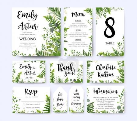 Wedding invite, invitation menu rsvp thank you car...