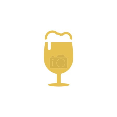 Illustration for Beer icon design template vector isolated illustration - Royalty Free Image