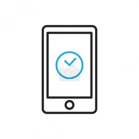 Smartphone icon. Mobile clock
