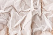 close-up shot of white crumpled paper for background