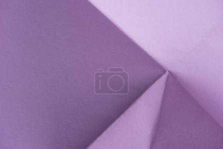 close-up shot of folded purple paper