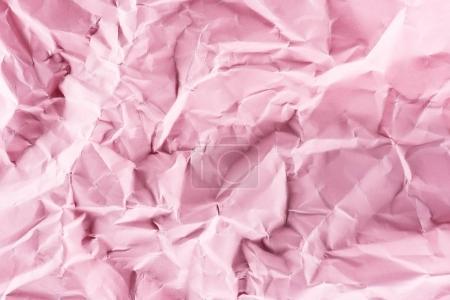 primer plano de papel rosa arrugado para el fondo