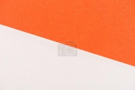 Photo for Close-up shot of orange and white paper layers for background - Royalty Free Image