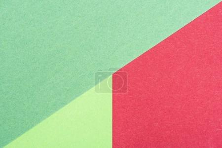 close-up shot of abstract composition made of colored papers for background