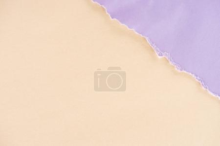 close-up shot of beige and lilac papers texture for background
