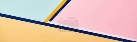 Foto de Fondo minimalista abstracto con líneas coloridas, plano panorámico - Imagen libre de derechos