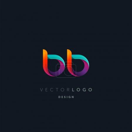 Illustration pour Logo conjoint des lettres Bb, modèle de carte de visite, vecteur - image libre de droit