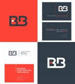logo joint Bb for Business Card Template Vector