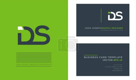 Logo joint Ds for Business Card Template, Vector...