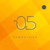 digit number 05 logo icon geometrical corporate identity vector illustration
