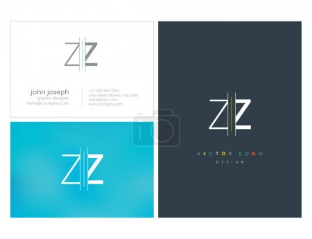 logo joint zz for business card template, vector illustration