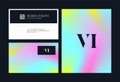 Letters logo Vi template for business card
