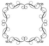 Decorative Frame and Borders Art Calligraphy lettering Vector illustration EPS10