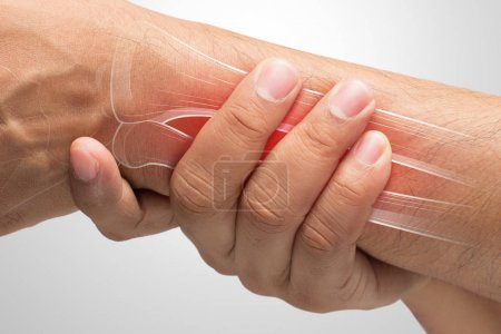 People suffering from arm pain