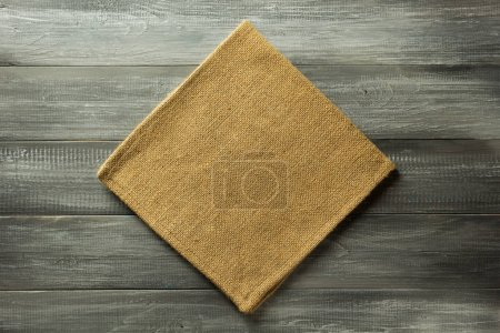 cloth napkin on rustic background