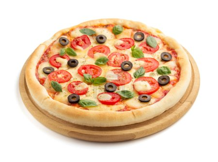 Photo for Margarita pizza isolated on white background - Royalty Free Image