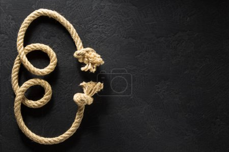 ship rope at black background