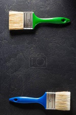 paint brush on black background