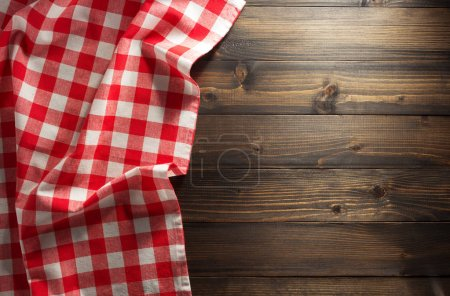 Cloth napkin on wooden background...