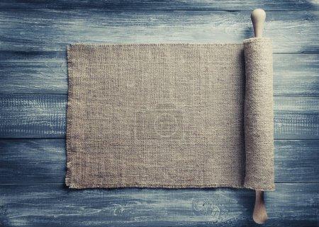 sac de jute toile de jute sur bois
