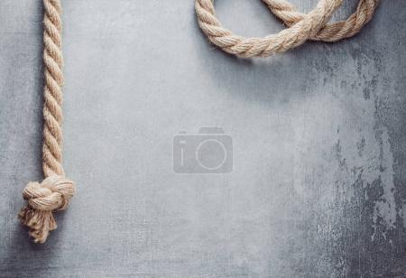 ship rope at old background