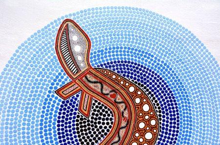 Indigenous Australian art Dot painting.