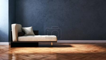 Photo for Modern bright interiors. 3D rendering illustration - Royalty Free Image