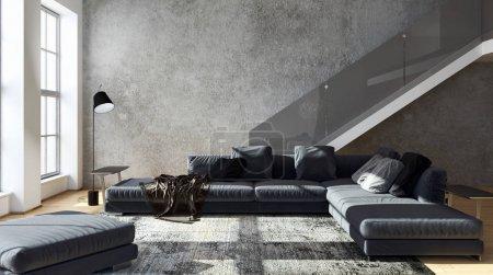 Photo pour Intérieurs modernes lumineux. Illustration de rendu 3D - image libre de droit