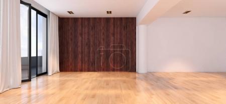 Foto de Modernos interiores luminosos. Ilustración de Render 3D - Imagen libre de derechos