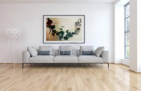 Modern interiors 3D rendering illustration