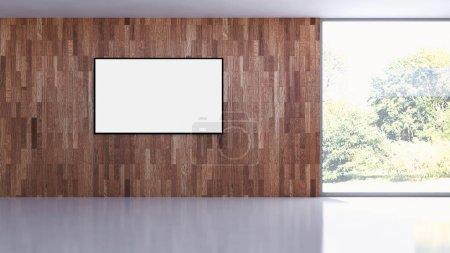 Photo pour Appartement moderne intérieurs lumineux avec image postérisée de maquette 3d rendering - image libre de droit