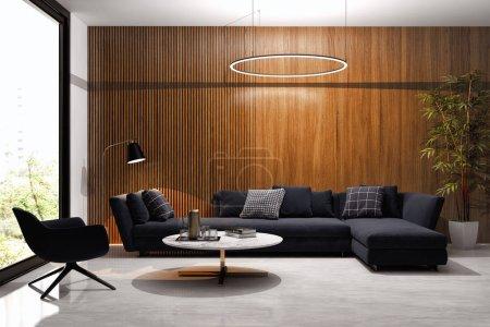 large luxury modern minimal bright interiors room mockup illustr