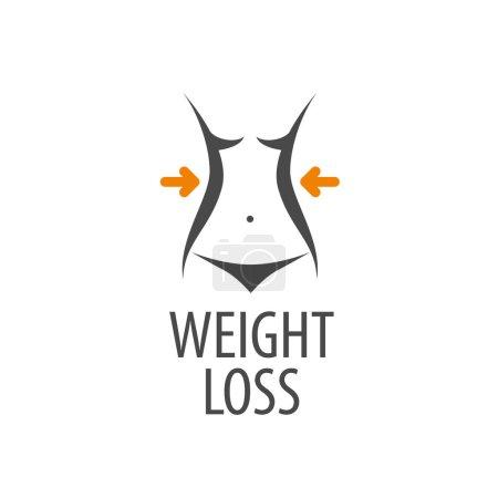 Logo design pattern diet. Vector illustration of i...