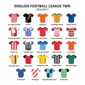 Football jerseys - League Two in England in UK season 2016/2017 kits