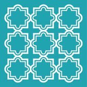 Arabic seamless pattern set - Islamic design turquoise and white