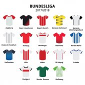 Bundesliga jerseys 2016 - 2017 German football league icons