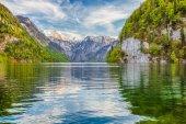 Lake Konigssee in springtime, Berchtesgadener Land, Bavaria, Germany