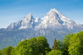 Watzmann mountain peak in summer, Bavaria, Germany