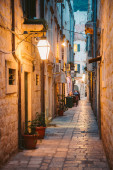 Historic town of Dubrovnik at twilight, Dalmatia, Croatia